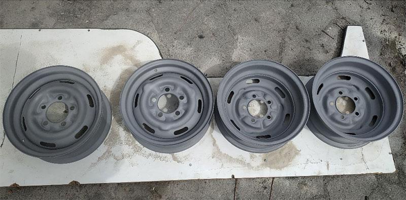 старые литые диски после пескоструя